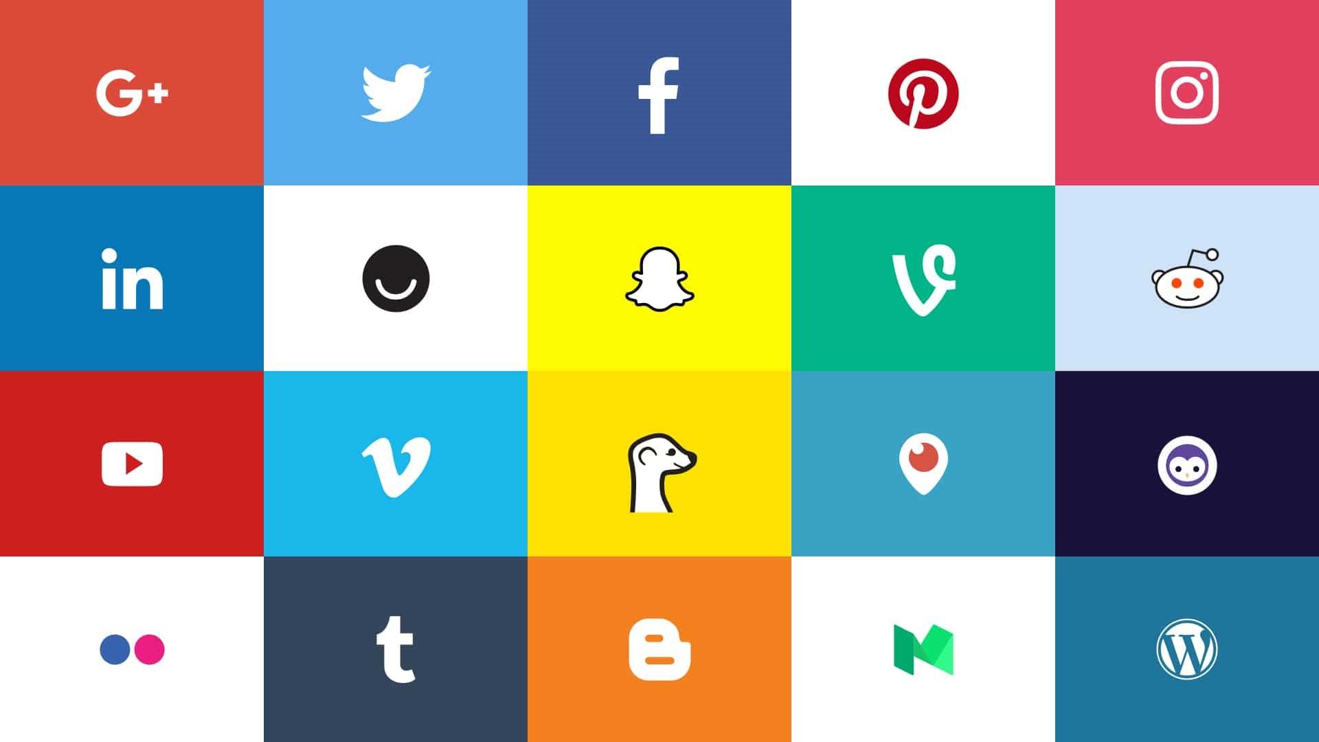 logos of social media